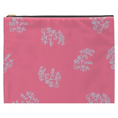Branch Berries Seamless Red Grey Pink Cosmetic Bag (XXXL)