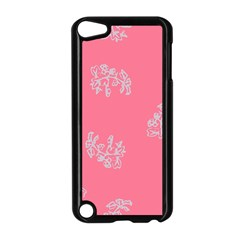 Branch Berries Seamless Red Grey Pink Apple iPod Touch 5 Case (Black)