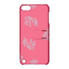 Branch Berries Seamless Red Grey Pink Apple iPod Touch 5 Hardshell Case with Stand