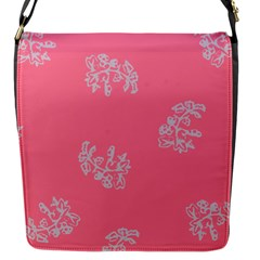 Branch Berries Seamless Red Grey Pink Flap Messenger Bag (S)