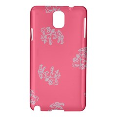 Branch Berries Seamless Red Grey Pink Samsung Galaxy Note 3 N9005 Hardshell Case