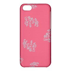 Branch Berries Seamless Red Grey Pink Apple iPhone 5C Hardshell Case