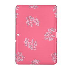 Branch Berries Seamless Red Grey Pink Samsung Galaxy Tab 2 (10 1 ) P5100 Hardshell Case