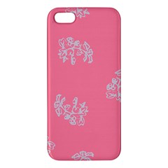 Branch Berries Seamless Red Grey Pink iPhone 5S/ SE Premium Hardshell Case