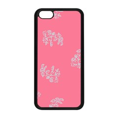 Branch Berries Seamless Red Grey Pink Apple iPhone 5C Seamless Case (Black)