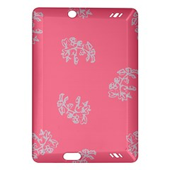 Branch Berries Seamless Red Grey Pink Amazon Kindle Fire HD (2013) Hardshell Case