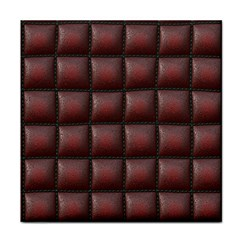 Red Cell Leather Retro Car Seat Textures Tile Coasters