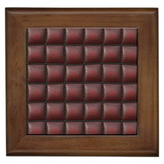 Red Cell Leather Retro Car Seat Textures Framed Tiles