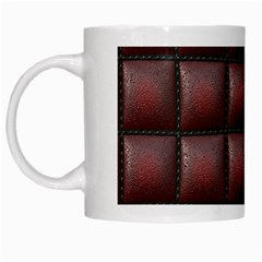 Red Cell Leather Retro Car Seat Textures White Mugs
