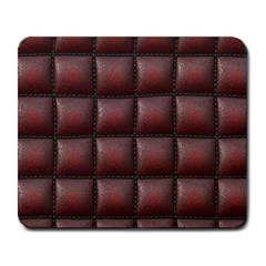 Red Cell Leather Retro Car Seat Textures Large Mousepads
