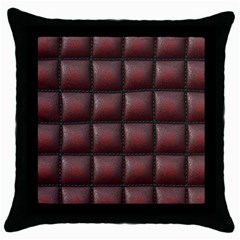 Red Cell Leather Retro Car Seat Textures Throw Pillow Case (black)