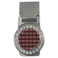 Red Cell Leather Retro Car Seat Textures Money Clips (CZ)