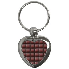 Red Cell Leather Retro Car Seat Textures Key Chains (Heart)