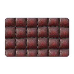 Red Cell Leather Retro Car Seat Textures Magnet (Rectangular)