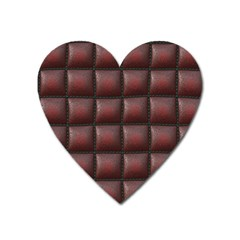 Red Cell Leather Retro Car Seat Textures Heart Magnet
