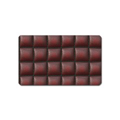 Red Cell Leather Retro Car Seat Textures Magnet (Name Card)