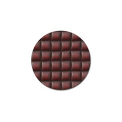 Red Cell Leather Retro Car Seat Textures Golf Ball Marker