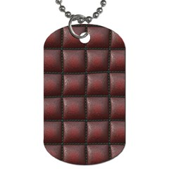 Red Cell Leather Retro Car Seat Textures Dog Tag (Two Sides)