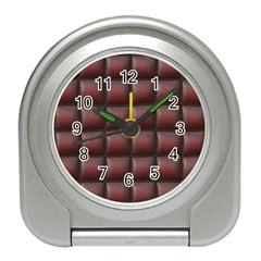 Red Cell Leather Retro Car Seat Textures Travel Alarm Clocks