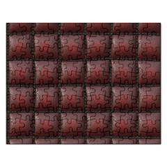 Red Cell Leather Retro Car Seat Textures Rectangular Jigsaw Puzzl