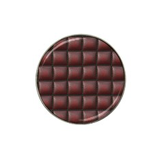 Red Cell Leather Retro Car Seat Textures Hat Clip Ball Marker (4 Pack)