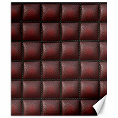Red Cell Leather Retro Car Seat Textures Canvas 8  x 10