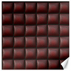 Red Cell Leather Retro Car Seat Textures Canvas 12  x 12