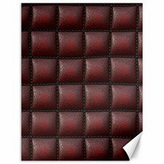 Red Cell Leather Retro Car Seat Textures Canvas 12  X 16