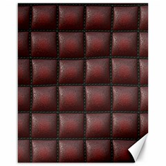 Red Cell Leather Retro Car Seat Textures Canvas 16  x 20