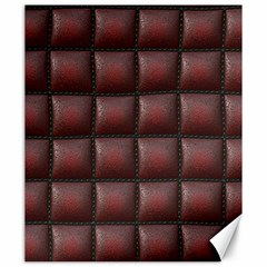 Red Cell Leather Retro Car Seat Textures Canvas 20  X 24