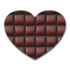 Red Cell Leather Retro Car Seat Textures Heart Mousepads
