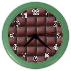 Red Cell Leather Retro Car Seat Textures Color Wall Clocks