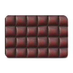 Red Cell Leather Retro Car Seat Textures Plate Mats