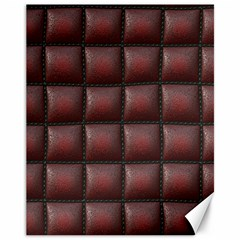 Red Cell Leather Retro Car Seat Textures Canvas 11  x 14