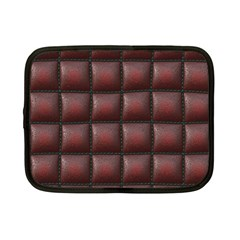 Red Cell Leather Retro Car Seat Textures Netbook Case (Small)