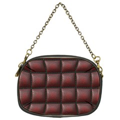 Red Cell Leather Retro Car Seat Textures Chain Purses (One Side)
