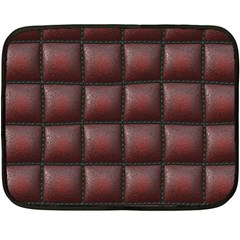 Red Cell Leather Retro Car Seat Textures Fleece Blanket (Mini)