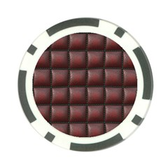 Red Cell Leather Retro Car Seat Textures Poker Chip Card Guard (10 pack)