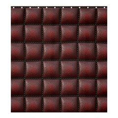 Red Cell Leather Retro Car Seat Textures Shower Curtain 66  x 72  (Large)