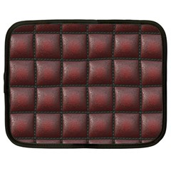Red Cell Leather Retro Car Seat Textures Netbook Case (xl)