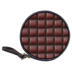 Red Cell Leather Retro Car Seat Textures Classic 20-CD Wallets