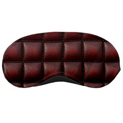 Red Cell Leather Retro Car Seat Textures Sleeping Masks