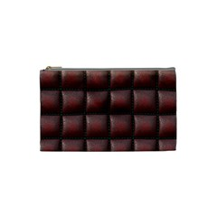 Red Cell Leather Retro Car Seat Textures Cosmetic Bag (small)