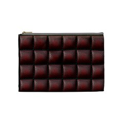 Red Cell Leather Retro Car Seat Textures Cosmetic Bag (Medium)