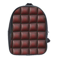 Red Cell Leather Retro Car Seat Textures School Bags(Large)