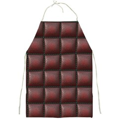 Red Cell Leather Retro Car Seat Textures Full Print Aprons