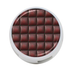 Red Cell Leather Retro Car Seat Textures 4 Port Usb Hub (one Side)