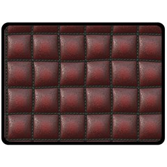 Red Cell Leather Retro Car Seat Textures Fleece Blanket (large)
