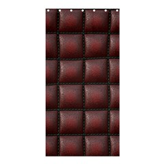 Red Cell Leather Retro Car Seat Textures Shower Curtain 36  x 72  (Stall)