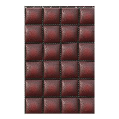 Red Cell Leather Retro Car Seat Textures Shower Curtain 48  X 72  (small)